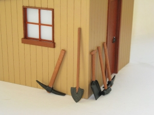 Painted Tools against Shed