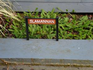 Slamannan Station Sign Close-up
