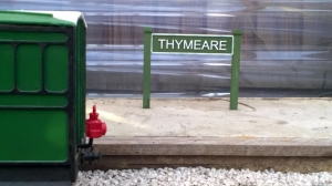 Thymeare Station Sign and Side Mount Freelance Lamp