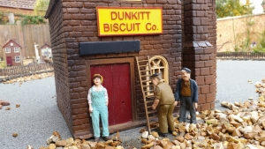 Biscuit Works Sign on The Dunkitt & Knibble Light Railway